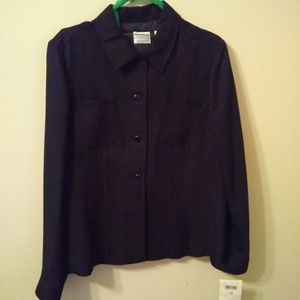 NWT . Womens Black Long Sleeve Button Up Blouse